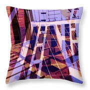 Urban Abstract 449 Throw Pillow