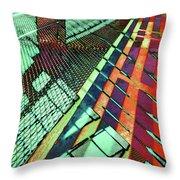 Urban Abstract 472 Throw Pillow
