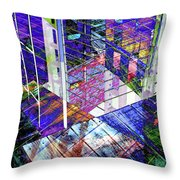Urban Abstract 476 Throw Pillow
