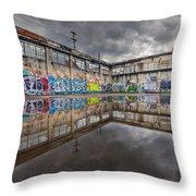 Urban Art Reflection Throw Pillow