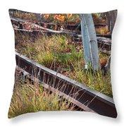 Urban Birches Throw Pillow