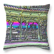 Urban Boat Landing Throw Pillow