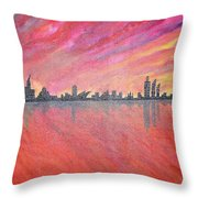 Urban Cityscapes In Twilight Throw Pillow