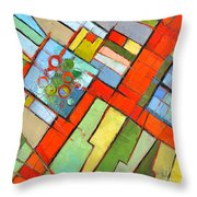 Urban Composition - Abstract Zoning Plan Throw Pillow