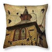 Urban Crows Throw Pillow