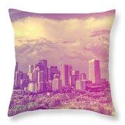 Urban Downtown Throw Pillow