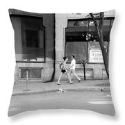 Urban Encounter Throw Pillow