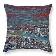 Urban Evening Throw Pillow