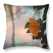 Urban Flora Throw Pillow
