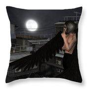 Urban Guardian Angel - Standing Throw Pillow