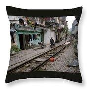 Urban Hanoi Throw Pillow