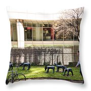 Urban Herdsman Throw Pillow