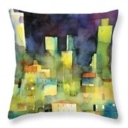 urban landscape 11 - le torri di San Gimignano Throw Pillow