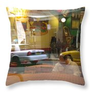 Urban Maze Throw Pillow