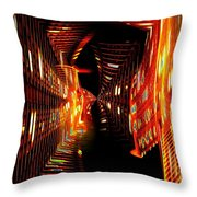 Urban Nightlights Throw Pillow