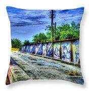 Urban Overpass Throw Pillow