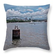 Urban Pelicans Throw Pillow