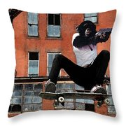 Urban Police Throw Pillow by Monday Beam