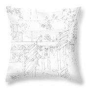 Urban River Bank Throw Pillow