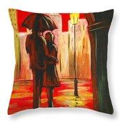 Urban Romance Throw Pillow