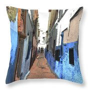 Urban Scene  Throw Pillow