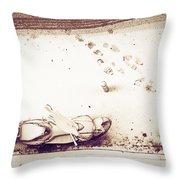 Urban Snow Throw Pillow