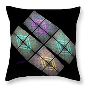 Urban Space Station Throw Pillow