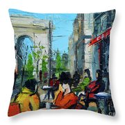 Urban Story - Champs Elysees Throw Pillow