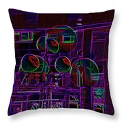Urban Street Scene Throw Pillow