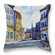 Urban Streets Throw Pillow