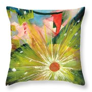 Urban Sunburst Throw Pillow