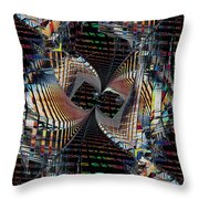Urban Twist And Tango Throw Pillow