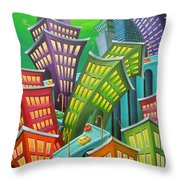 Urban Vertigo Throw Pillow