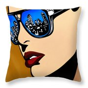 Urban Vision Throw Pillow