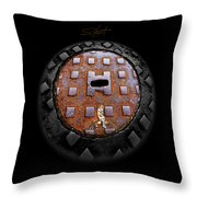 Urban Voice Button Throw Pillow