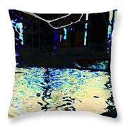 Urban Waterfall Throw Pillow