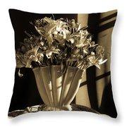 Urban Wildflowers  Throw Pillow