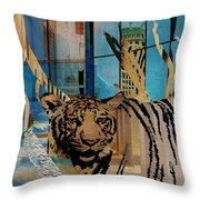 Urban Wildlife Throw Pillow