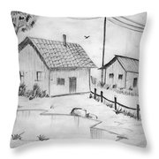 Urbanisation Of Villages - Gaon Chale Shahr Ki Oar Throw Pillow