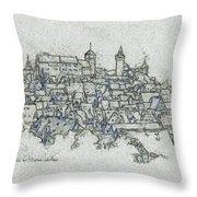 uremberg Sketching Throw Pillow