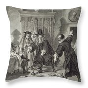Urinaal And Raasbo, Math Rivals, 1758 Throw Pillow