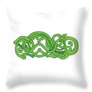 Urnes Snake Extended Stomach Retro Throw Pillow