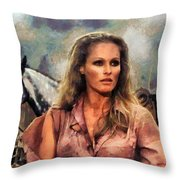 Ursula Andress Throw Pillow
