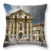 Ursuline Church Of The Holy Trinity With Marble Statues Of The H Throw Pillow