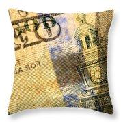 Us 100 Dollar Bill Security Features, 6 Throw Pillow