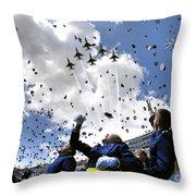 U.s. Air Force Academy Graduates Throw Throw Pillow by Stocktrek Images