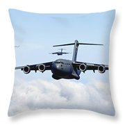 U.s. Air Force C-17 Globemasters Throw Pillow