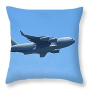 U.s. Air Force Cargo Plane Throw Pillow