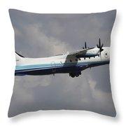 U.s. Air Force Dornier 328 Transiting Throw Pillow