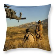 U.s. Air Force Pararescuemen Signal Throw Pillow